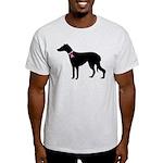 Greyhound Breast Cancer Support Light T-Shirt