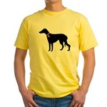 Greyhound Breast Cancer Support Yellow T-Shirt
