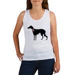 Greyhound Breast Cancer Support Women's Tank Top