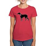 Greyhound Breast Cancer Support Women's Dark T-Shi