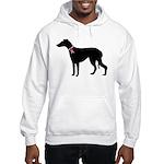 Greyhound Breast Cancer Support Hooded Sweatshirt