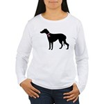 Greyhound Breast Cancer Support Women's Long Sleev