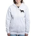 Greyhound Breast Cancer Support Women's Zip Hoodie