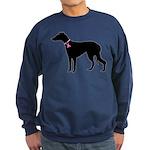 Greyhound Breast Cancer Support Sweatshirt (dark)