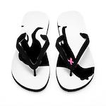 Greyhound Breast Cancer Support Flip Flops