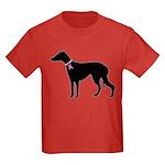 Greyhound Breast Cancer Support Kids Dark T-Shirt