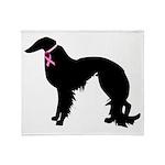Irish Setter Breast Cancer Support Throw Blanket