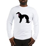 Irish Setter Breast Cancer Support Long Sleeve T-S