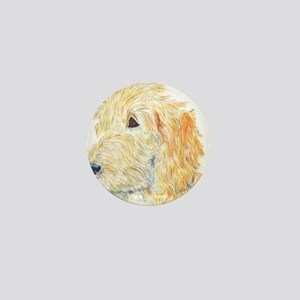 Cream Labradoodle 1 Mini Button