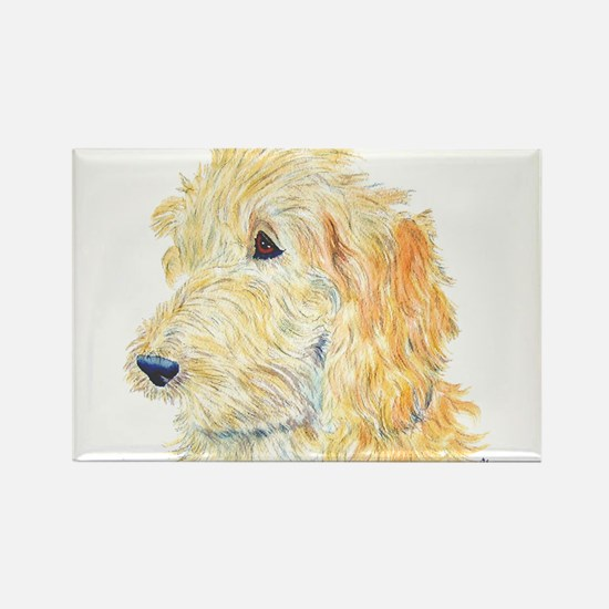 Cream Labradoodle 1 Rectangle Magnet