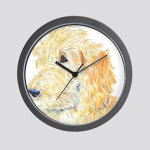 Cream Labradoodle 1 Wall Clock