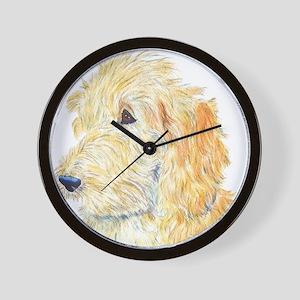 Cream Labradoodle 1 Wall Clock