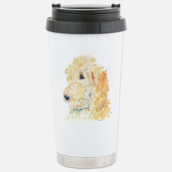 Cream Labradoodle 1 Stainless Steel Travel Mug