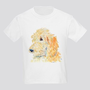 Cream Labradoodle 1 Kids Light T-Shirt