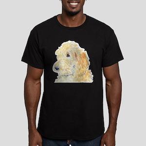 Cream Labradoodle 1 Men's Fitted T-Shirt (dark)
