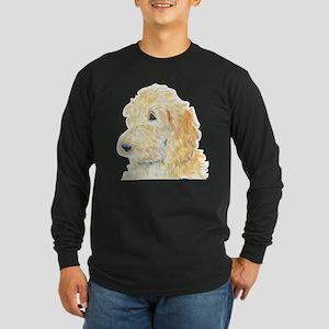 Cream Labradoodle 1 Long Sleeve Dark T-Shirt