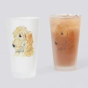 Cream Labradoodle 1 Drinking Glass
