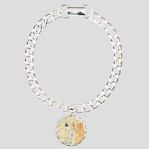 Cream Labradoodle 1 Charm Bracelet, One Charm