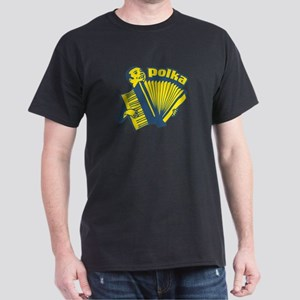 Polka Fan Black T-Shirt