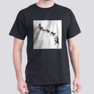 Eskimo Dogsled Black T-Shirt