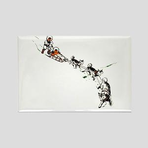 Eskimo Dogsled Rectangle Magnet