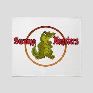 Swamp Monsters Throw Blanket