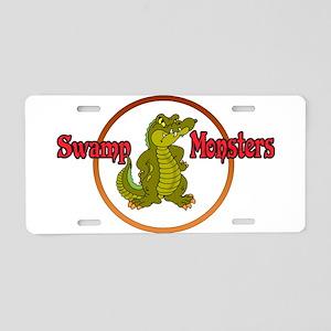 Swamp Monsters Aluminum License Plate