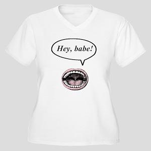 hey, babe! Women's Plus Size V-Neck T-Shirt