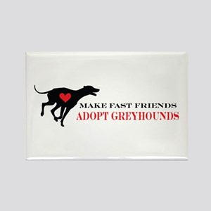 Adopt a Greyhound Rectangle Magnet