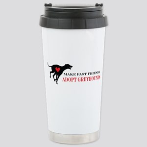 Adopt a Greyhound Stainless Steel Travel Mug