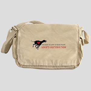 Adopt a Greyhound Messenger Bag