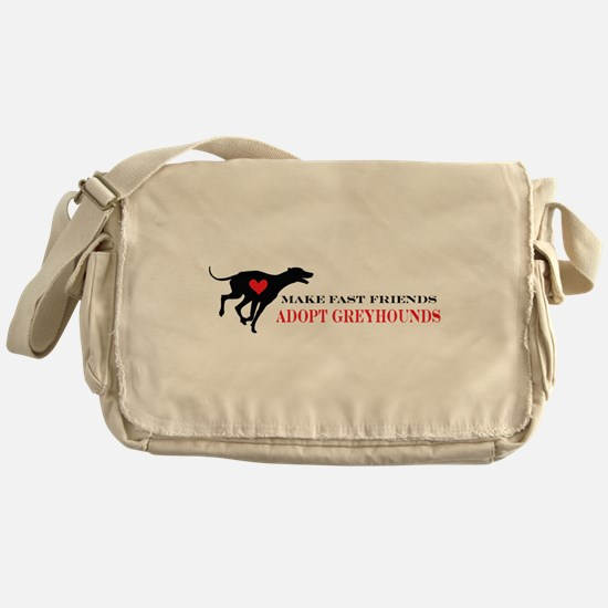 Adopt a Greyhound Messenger Bag