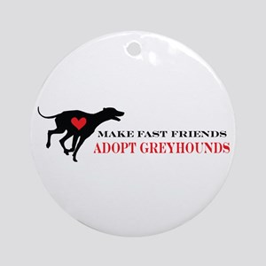 Adopt a Greyhound Ornament (Round)