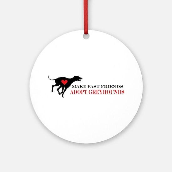Adopt a Greyhound Ornament (Round)