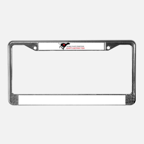 Adopt a Greyhound License Plate Frame
