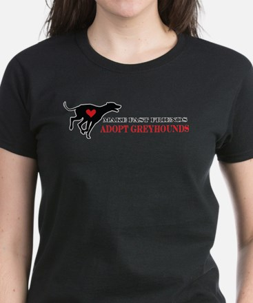 Adopt a Greyhound Women's Dark T-Shirt