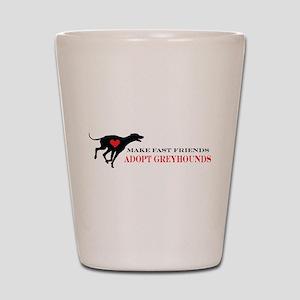 Adopt a Greyhound Shot Glass