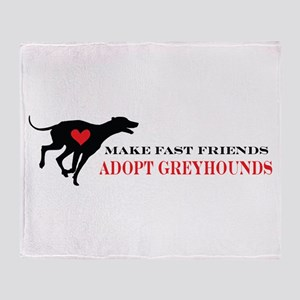 Adopt a Greyhound Throw Blanket
