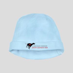 Adopt a Greyhound baby hat