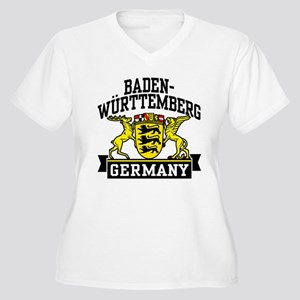 Baden Württemberg Germany Women's Plus Size V-Neck