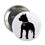Pitbull Terrier Breast Cancer Support 2.25