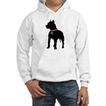 Pitbull Terrier Breast Cancer Support Hooded Sweat