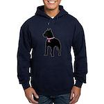 Pitbull Terrier Breast Cancer Support Hoodie (dark