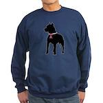 Pitbull Terrier Breast Cancer Support Sweatshirt (