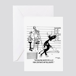 Bullheaded Inspector Greeting Card