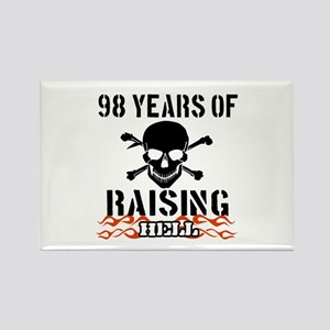 98 years of raising hell Rectangle Magnet
