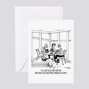 Construction Poker Greeting Card