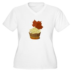Autumn leaf cupcake T-Shirt