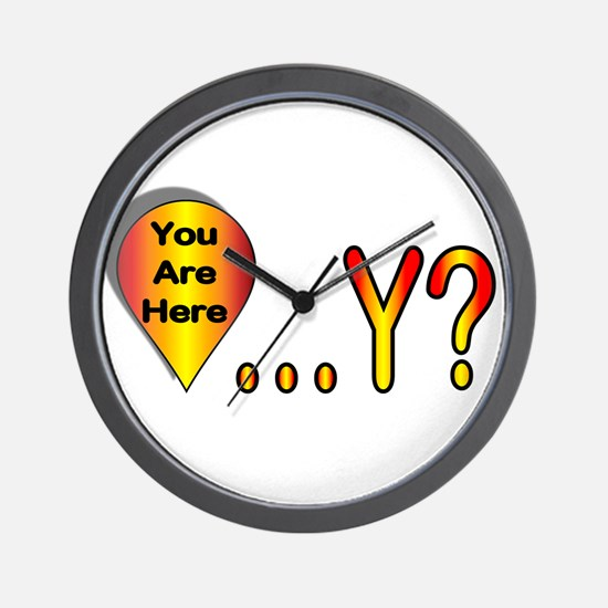 You Are Here... Why? Wall Clock