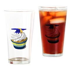 Graduation cupcake Drinking Glass